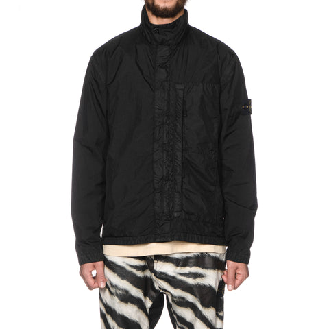 stone island Garment Dyed Crinkle Reps Light Overcoat Black