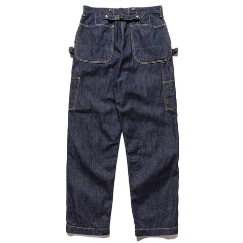 KAPITAL 11.5 oz Denim Lumber Pants One Wash Indigo, Bottoms