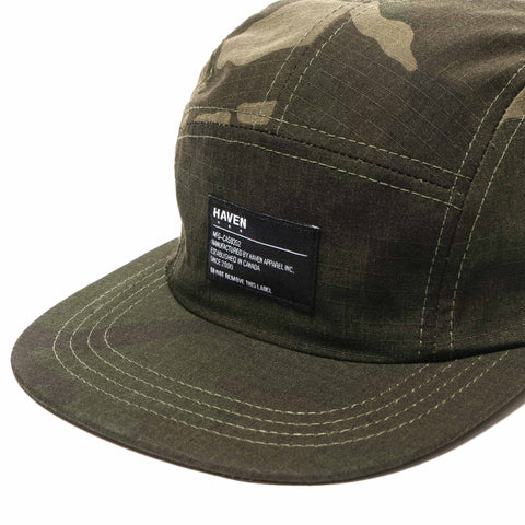 HAVEN 5-Panel Cap - Cordura Ripstop Camo