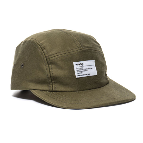 HAVEN Moleskin 5-Panel Cap Olive