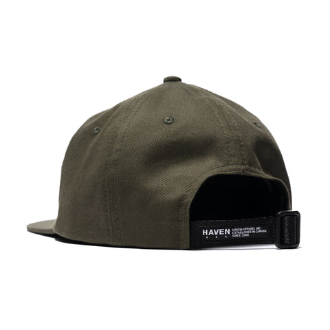HAVEN Logo 6-Panel Cap Olive, Headwear