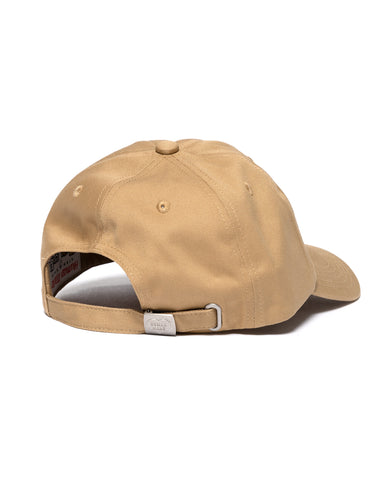 Human Made 6 Panel Twill Cap #5 Beige, Headwear