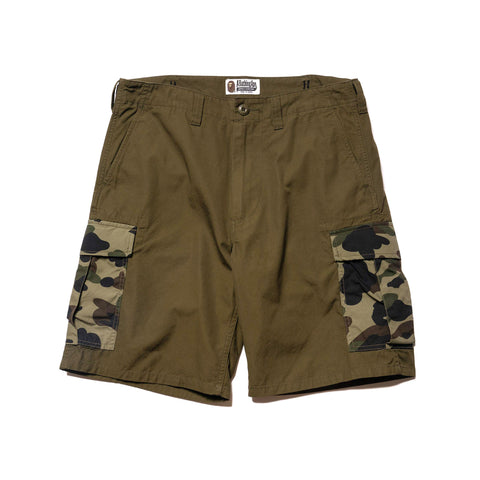 A BATHING APE 1st Camo 6 Pocket Shorts Olive Drab, Bottoms