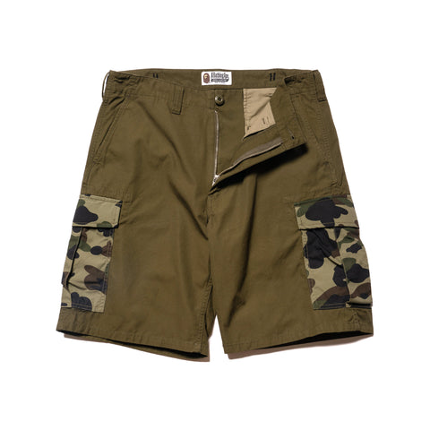 A BATHING APE 1st Camo 6 Pocket Shorts Olive Drab, Shorts