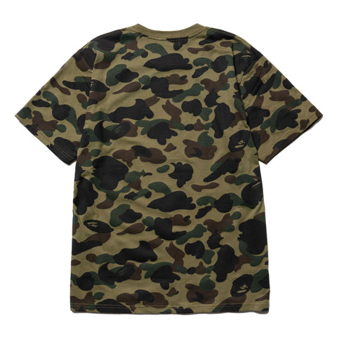 A BATHING APE 1st Camo Bape Tee Green, T-Shirts