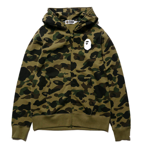 d9478d5e11f1 A BATHING APE 1st Camo Full Zip Hooded Sweater Green