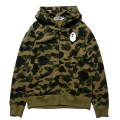 A BATHING APE 1st Camo Full Zip Hooded Sweater Green, Sweaters
