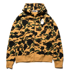 A BATHING APE 1st Camo Full Zip Hooded Sweater Yellow, Sweaters