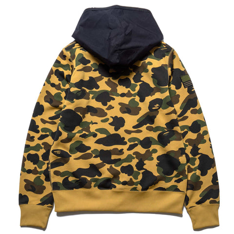 A BATHING APE 1st Camo Full Zip Hoodie Yellow, Sweaters