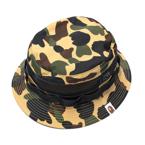 A BATHING APE 1st Camo Military Mesh Hat Yellow, Headwear