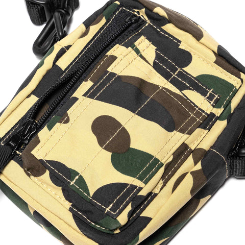 A BATHING APE 1st Camo Military Shoulder Bag Yellow, Bags