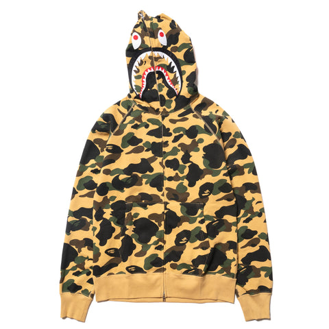 00173a4ac81d8 A BATHING APE 1st Camo Shark Full Zip Hoodie Yellow, Sweaters