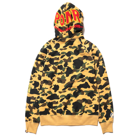 A BATHING APE 1st Camo Shark Full Zip Hoodie Yellow, Sweaters