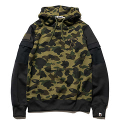 A BATHING APE 1st Camo Sleeve Pocket Pullover Hoodie Green, Sweaters
