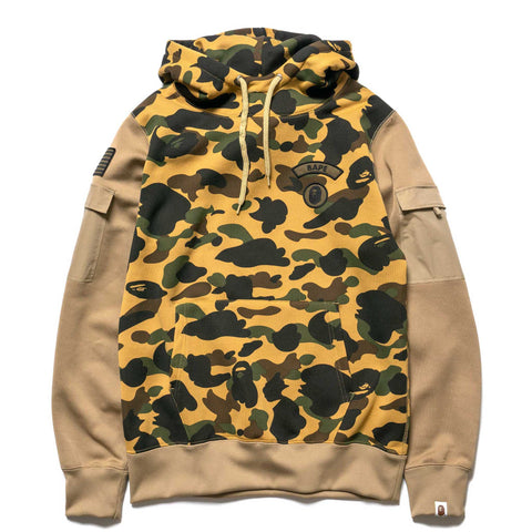 9608d6cd430e A BATHING APE 1st Camo Sleeve Pocket Pullover Hoodie Yellow
