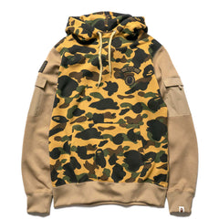 A BATHING APE 1st Camo Sleeve Pocket Pullover Hoodie Yellow, Sweaters