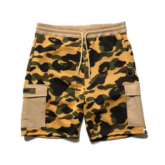 A BATHING APE 1st Camo Sweat Cargo Shorts Yellow, Shorts