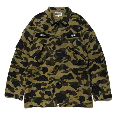 A Bathing Ape 1st Camo Tactical Military Shirt Green, Tops