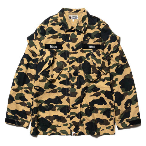 0b11521f3ea38 A Bathing Ape 1st Camo Tactical Military Shirt Yellow, Tops