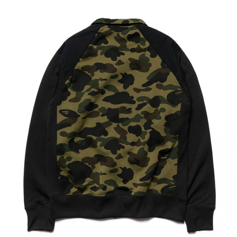 A BATHING APE 1st Camo Tactical Wide Zip Sweats Green, Sweaters