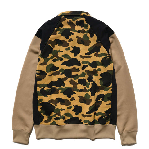 A BATHING APE 1st Camo Tactical Wide Zip Sweats Yellow, Sweaters