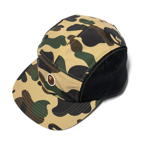 A Bathing Ape 1st Camp Ape Head One Point Mesh Jet Cap Yellow, Headwear