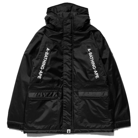 A BATHING APE 3 Layer Military Padded Jacket Black, Jackets