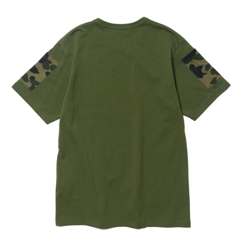 A Bathing Ape Bape 1st Camo Sleeve Pocket Tee Green, T-Shirts