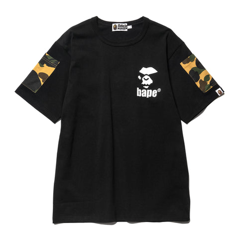 A Bathing Ape Bape 1st Camo Sleeve Pocket Tee Yellow, T-Shirts