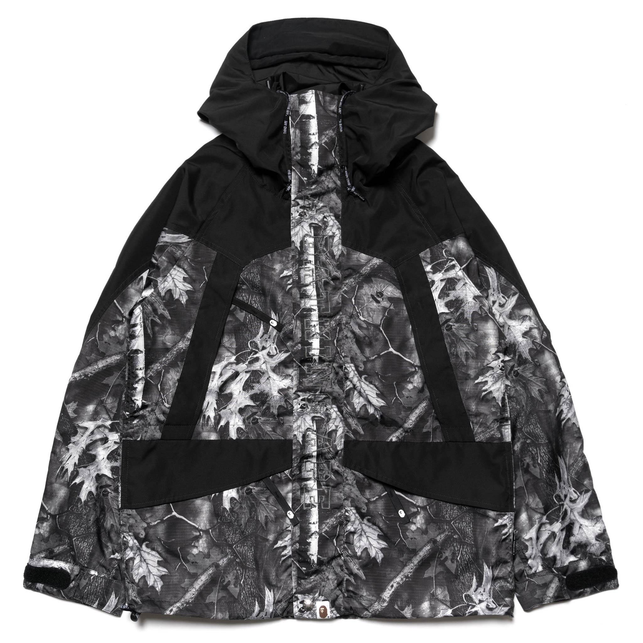 0df1e9751 Bape Forest Camo Snow Board Jacket Black