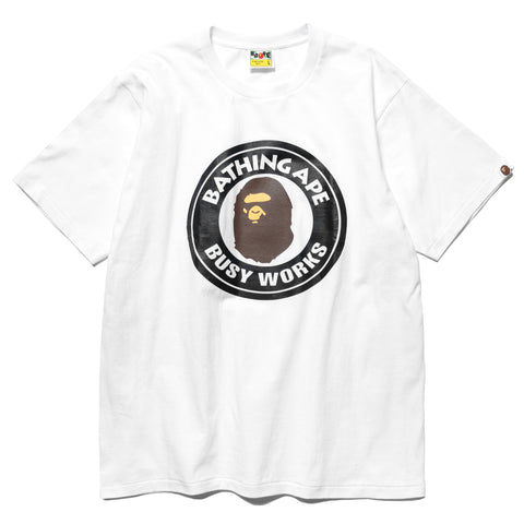 A BATHING APE Busy Works Tee White, T-Shirts