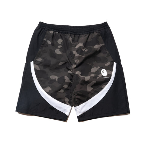 A BATHING APE Color Camo Color Block Shorts Black, Shorts