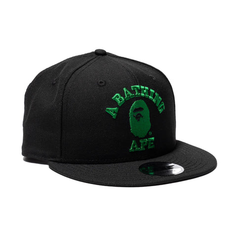 9903ee7b9a1 A BATHING APE College New Era Snap Back Cap Black