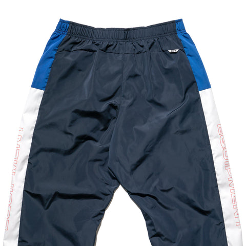 A BATHING APE Color Block Track Pants Navy, Bottoms