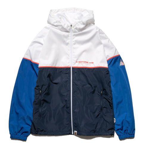 A BATHING APE Color Block Track Top Navy, Outerwear