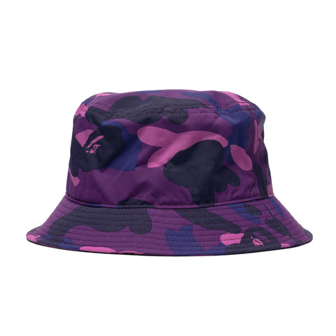 A Bathing Ape Color Camo Ape Head One Point Bucket Hat Purple, Headwear