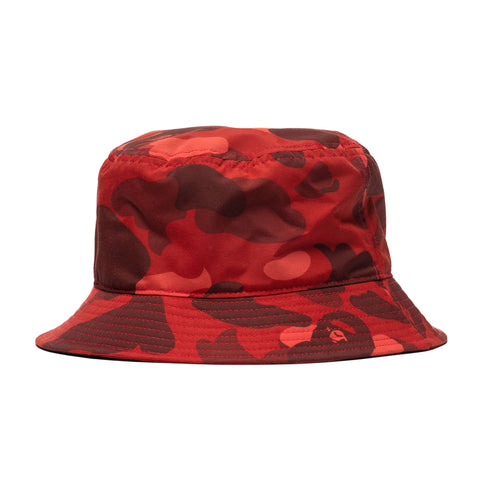 A Bathing Ape Color Camo Ape Head One Point Bucket Hat Red, Headwear