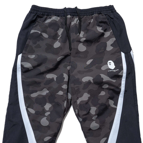 A BATHING APE Color Camo Color Block Pants Black, Bottoms