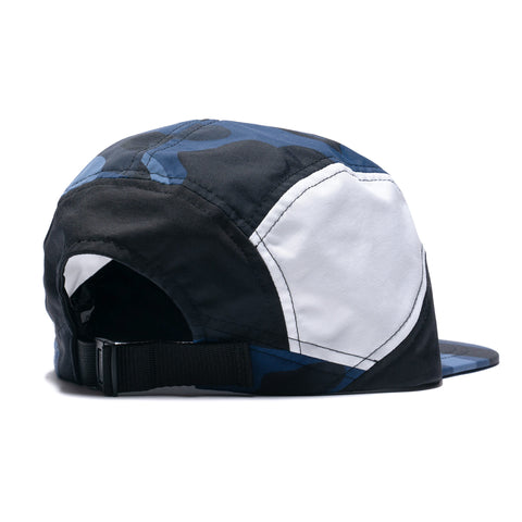 A BATHING APE Color Camo Block Running Cap Navy, Headwear