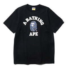 A BATHING APE Color Camo College Tee Black x Navy, T-Shirts