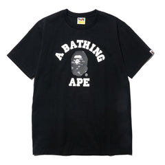 A BATHING APE Color Camo College Tee Black x Black, T-Shirts