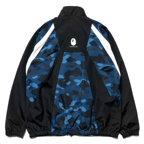 A BATHING APE Color Camo Color Block Jacket Navy, Outerwear