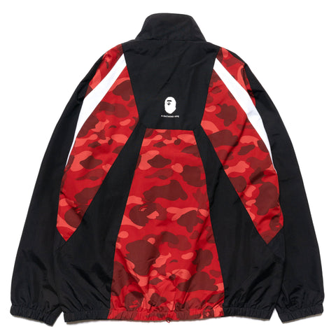 A BATHING APE Color Camo Color Block Jacket Red, Outerwear