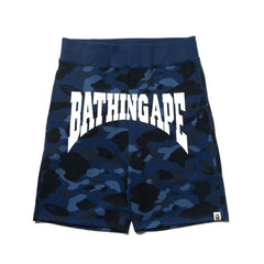 A Bathing Ape Color Camo Sweat Shorts Navy, Shorts