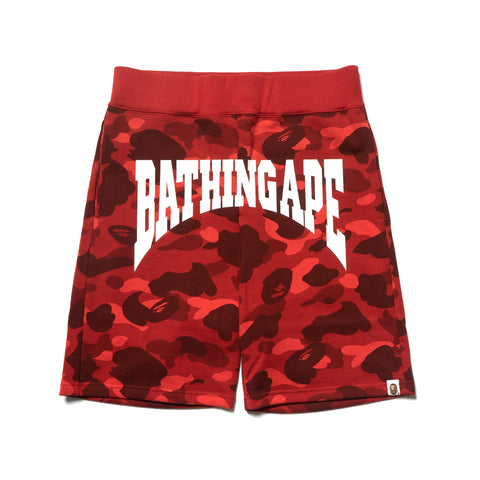 A Bathing Ape Color Camo Sweat Shorts Red, Shorts