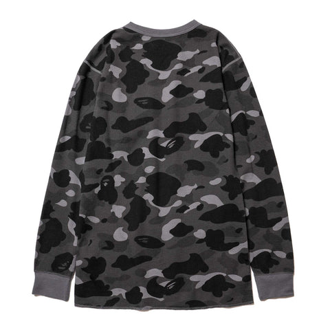 A BATHING APE Color Camo Thermal LT Black, T-Shirts