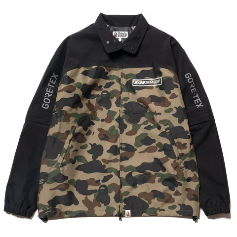A BATHING APE Gore-Tex 1st Camo Detachable Sleeve Jacket Green, Jackets