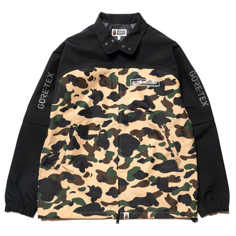 A BATHING APE Gore-Tex 1st Camo Detachable Sleeve Jacket Yellow, Outerwear