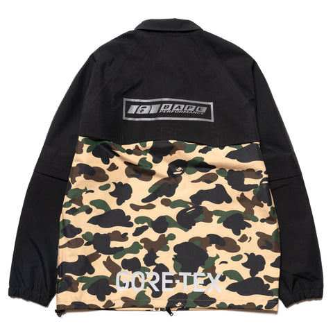 669baf67 ... Jackets A BATHING APE Gore-Tex 1st Camo Detachable Sleeve Jacket  Yellow, Jackets