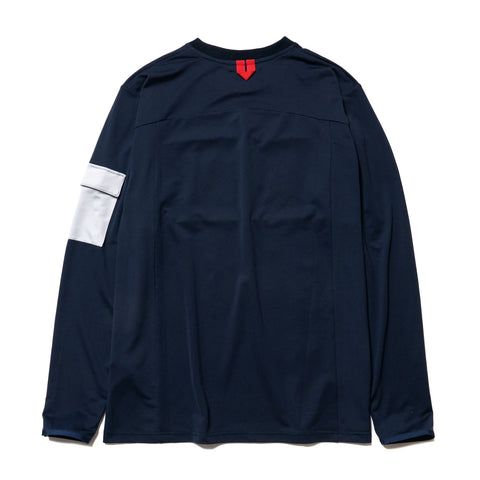 A BATHING APE Jersey L/S Tee Navy, T-Shirts